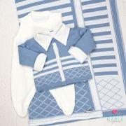 Saída de Maternidade Losango Azul Céu