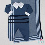 Saída de Maternidade Mescla Azul Jeans