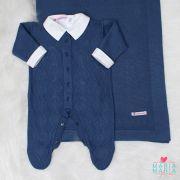 Saída de Maternidade Moscou Azul Jeans