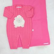 Saída de Maternidade Ovelhinha Pink