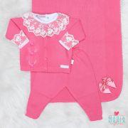 Saída de Maternidade Pompom Pink