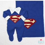 Saída de Maternidade Superman Azul Bic