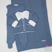 Saída de Maternidade Tenista Azul Jeans