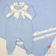Saída de Maternidade Tricotil Julia Azul