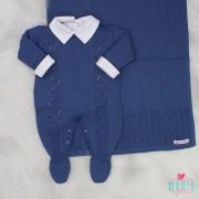 Saída de Maternidade Veneza Azul Jeans