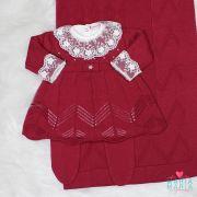 Saída de Maternidade Vestido Alice Marsala