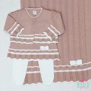 Saída de Maternidade Vestido Chanel Rosê