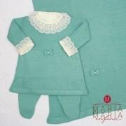 Saída de Maternidade Vestido Laço Menta P