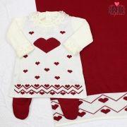 Saída de Maternidade Vestido Love Bordô
