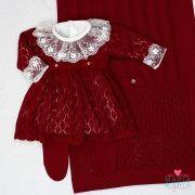 Saída de Maternidade Vestido Michele Bordô