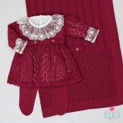 Saída de Maternidade Vestido Michele Marsala