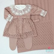 Saída de Maternidade Vestido Michele Rosê