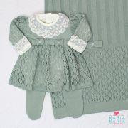 Saída de Maternidade Vestido Michele Verde Maré