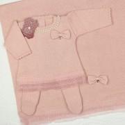 Saída de Maternidade Vestido Renda Rosê