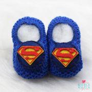 Sapatinho de Tricô Superman