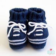 menino sapatinhos sapatinho de trico brasao azul rn - Busca na Maria ... cebcc8a6083