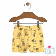 Shorts Suedine Buldogue Amarelo