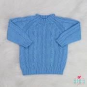Suéter Trança Azul Céu