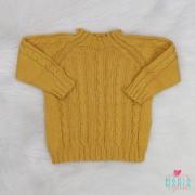 Suéter Trança Mostarda