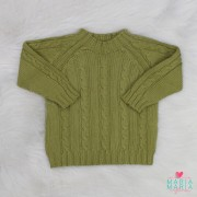 Suéter Trança Pistache