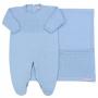 Saída de Maternidade Tricô Viena Azul