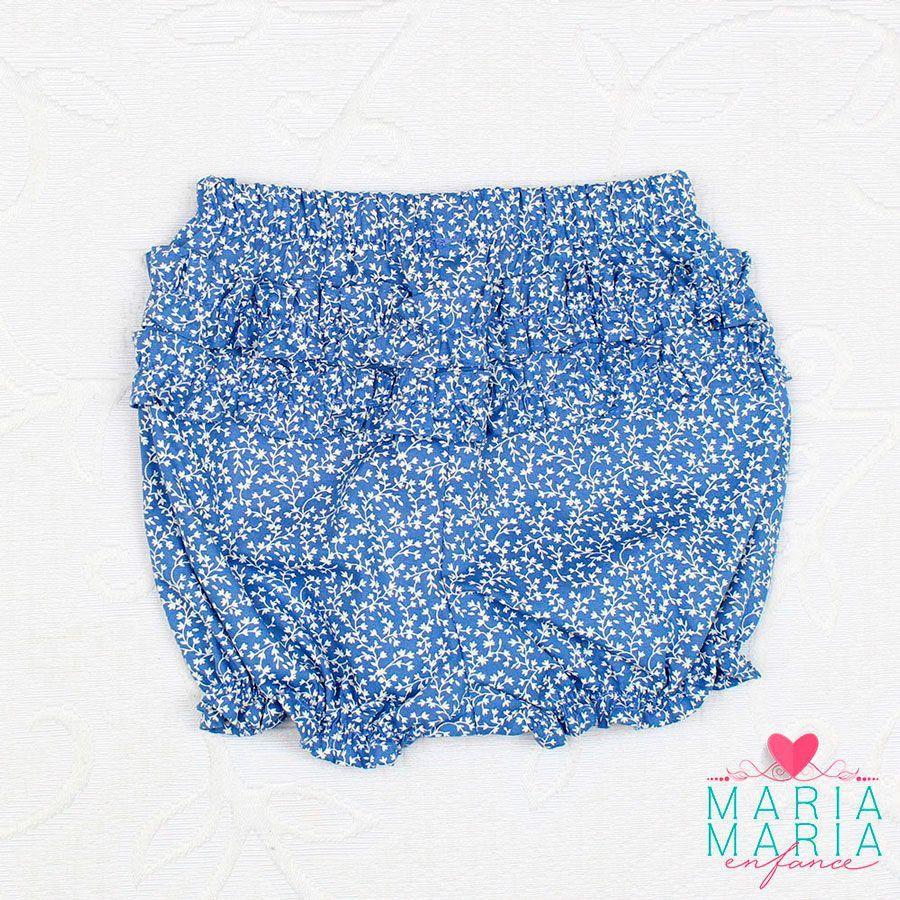 Body e Short Floral Azul