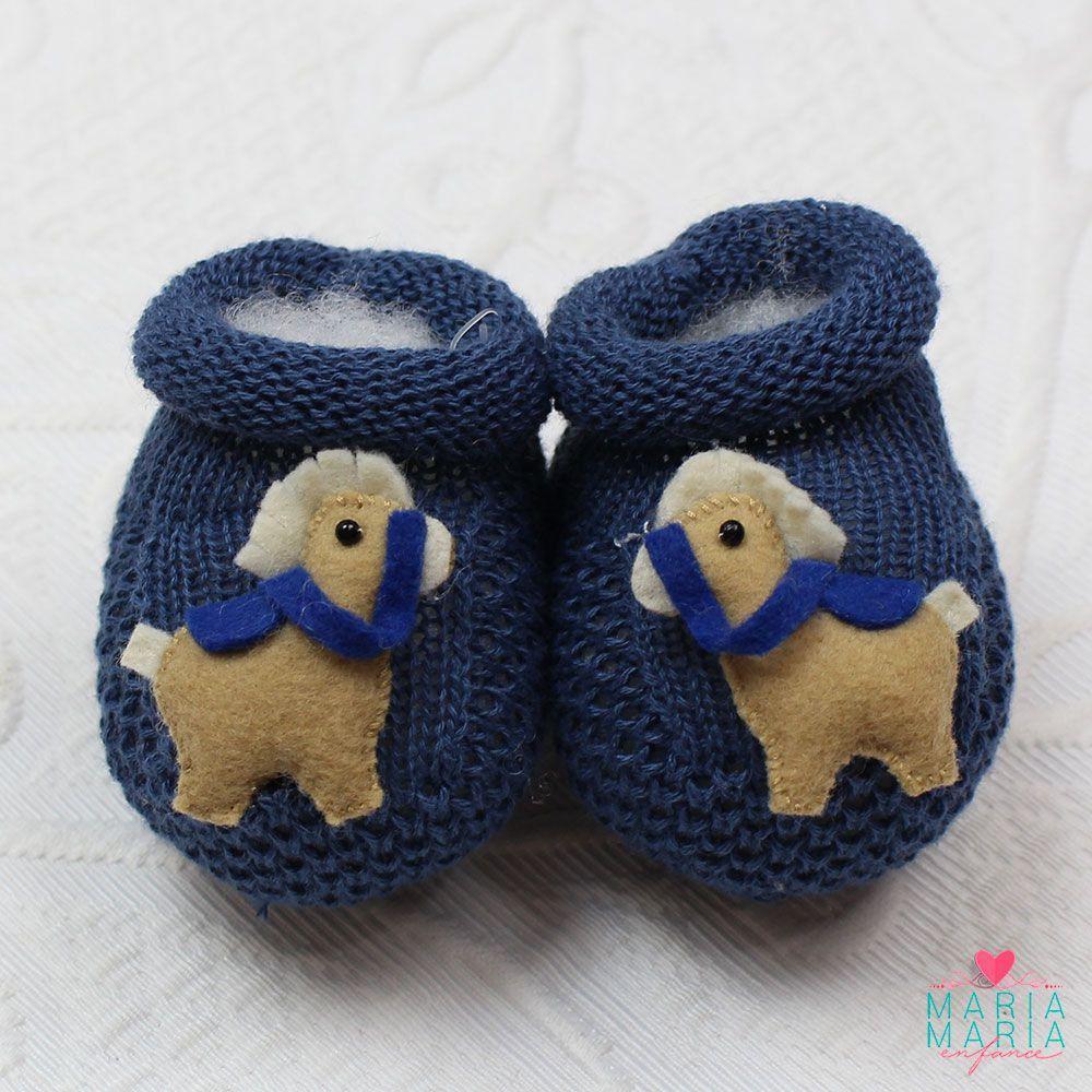 Botinha de Tricô Cavalinho Azul Jeans - Maria Maria Enfance - Saídas ... b5d91bdea04