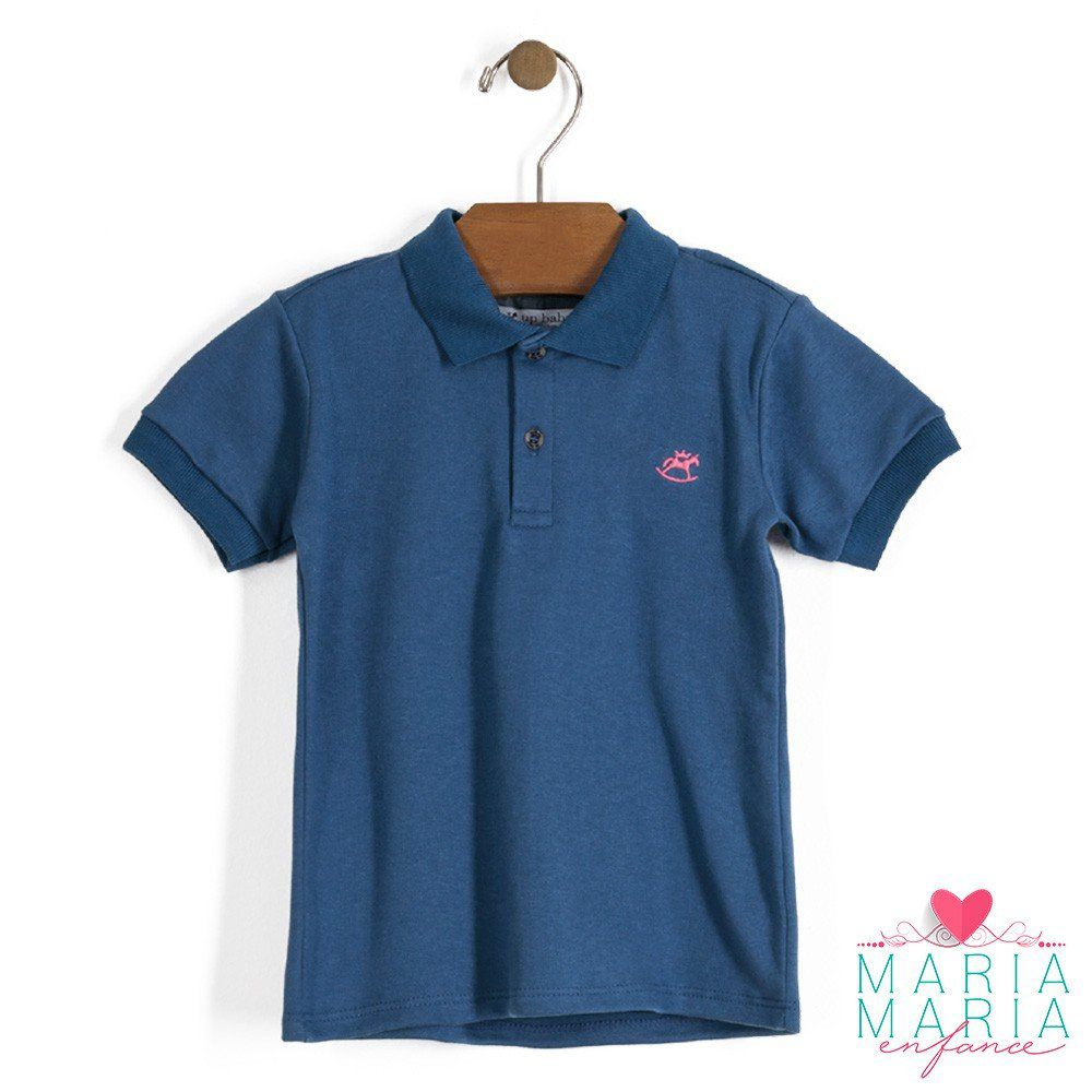 Camisa Manga Curta Suedine Azul Jeans