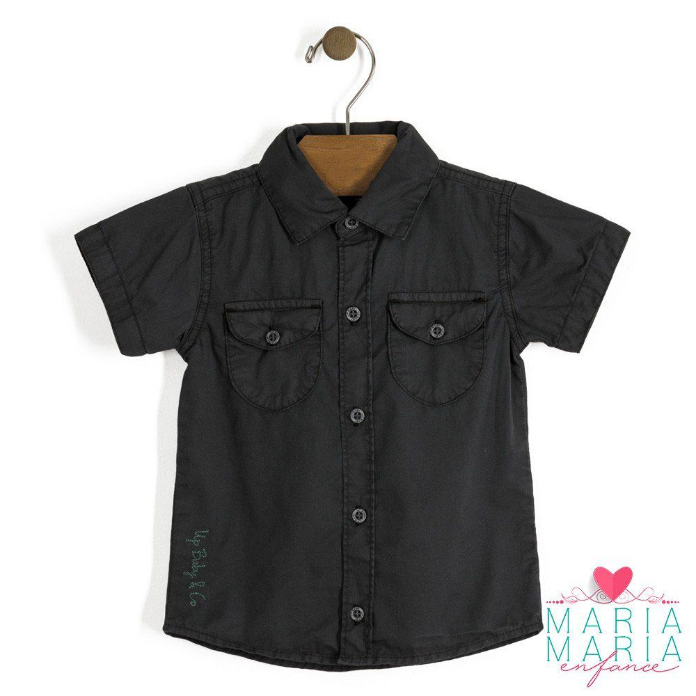 Camisa Manga Curta Preto