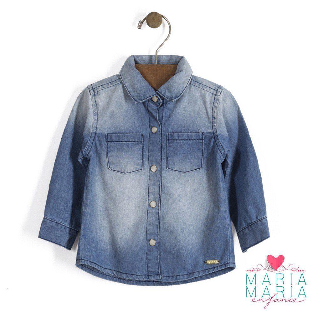 Camisa Manga Longa Jeans