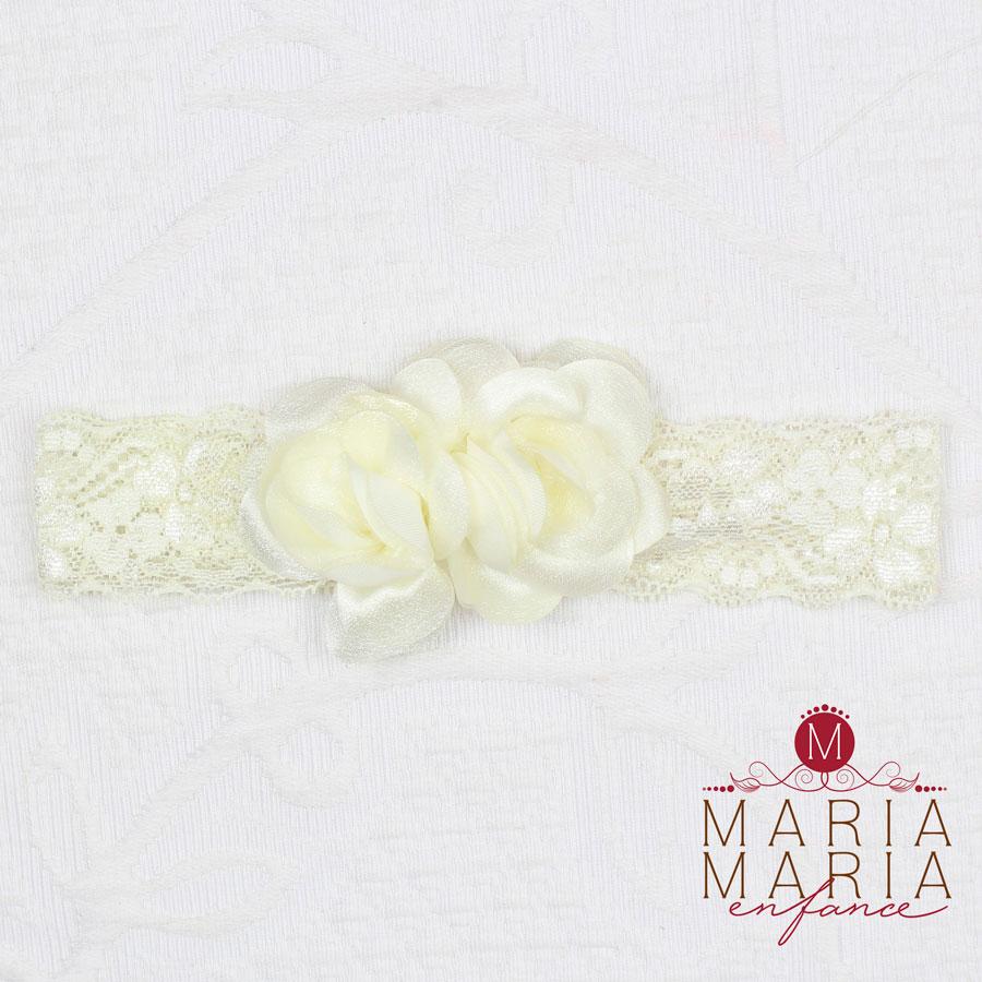 Faixa Renda 2 Flores Pérola Off White