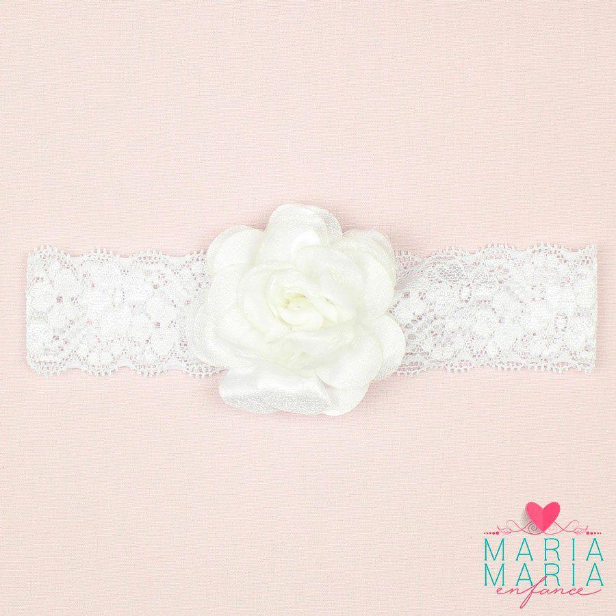 Faixa Renda Flor Pérola Branco