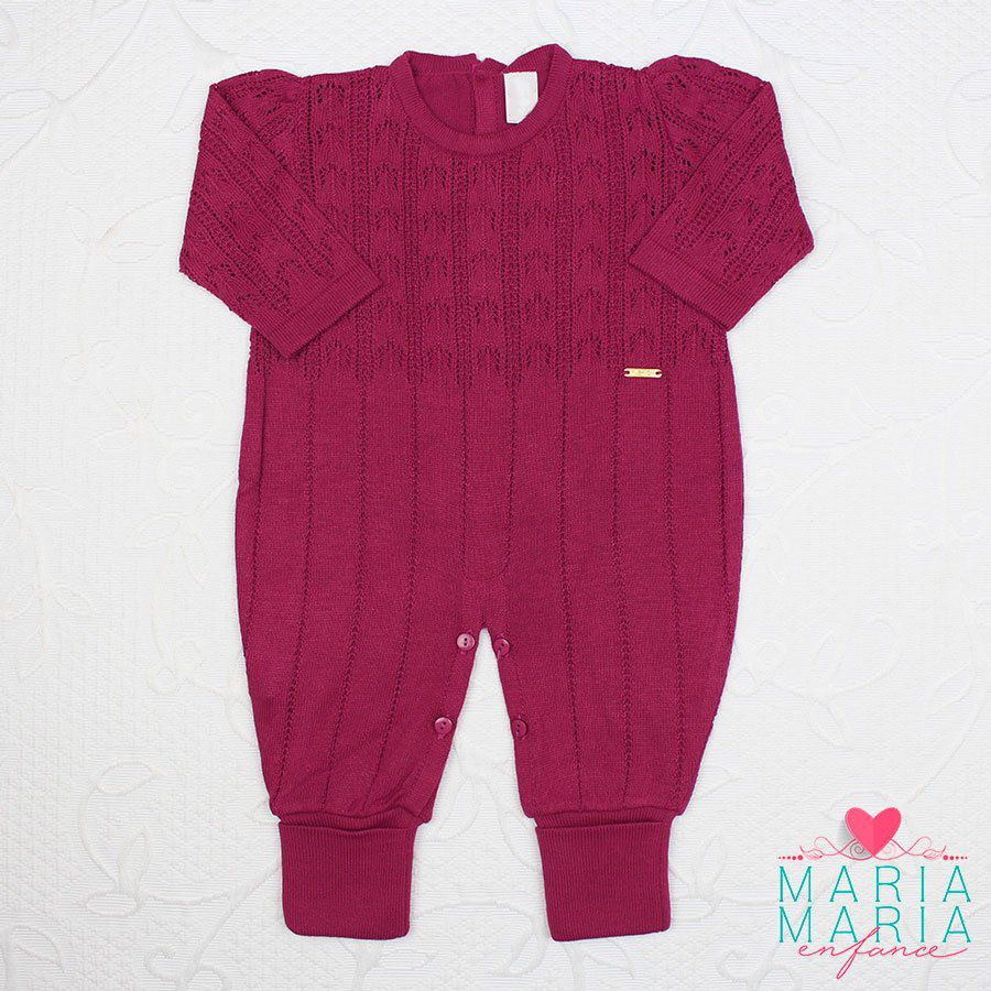 Macacão Renda Fashion Marsala