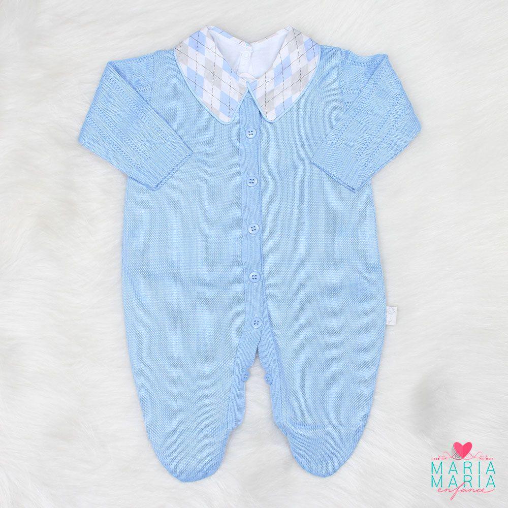 Saída de Maternidade + Body Losango Azul