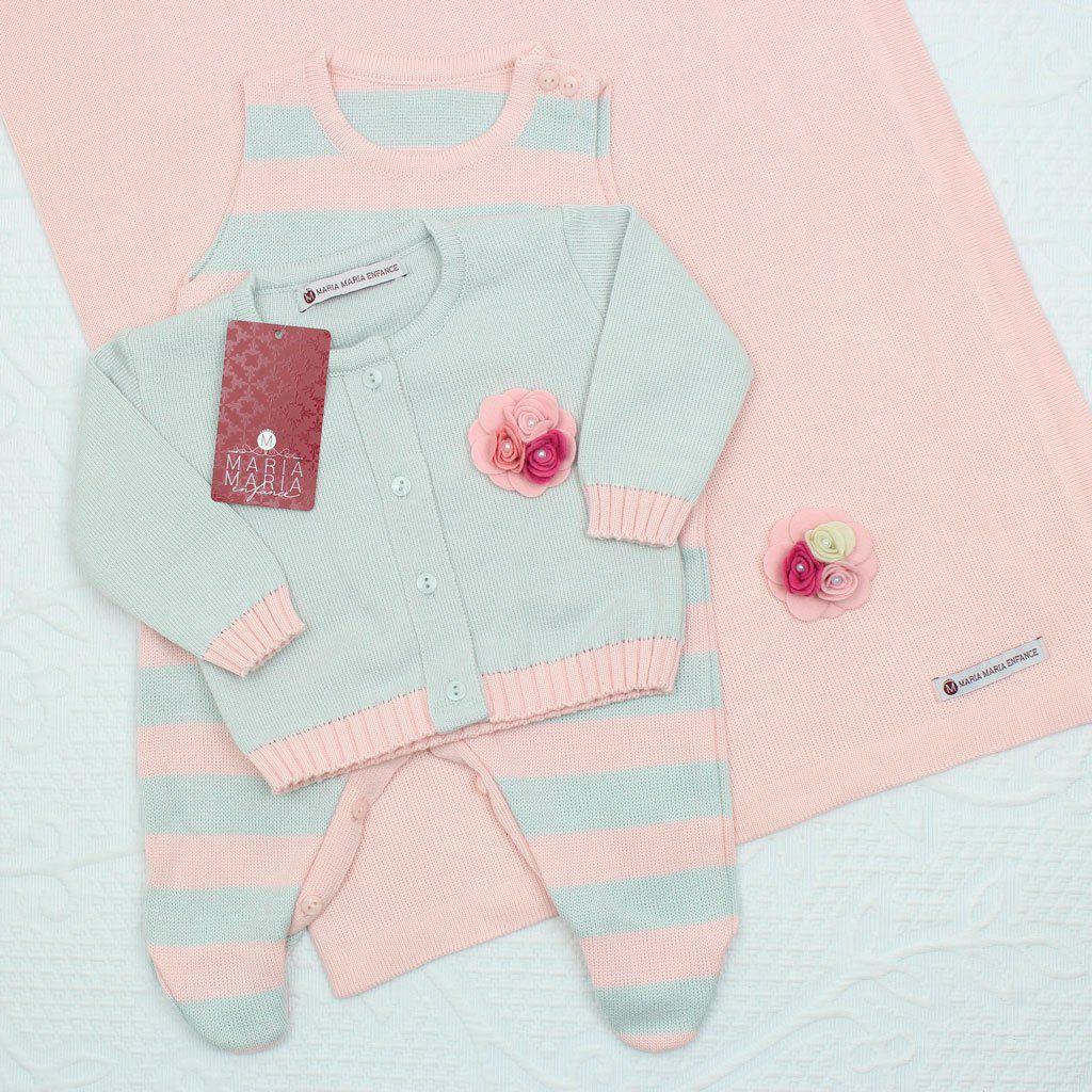 Saída de Maternidade Broche Azul e Rosa