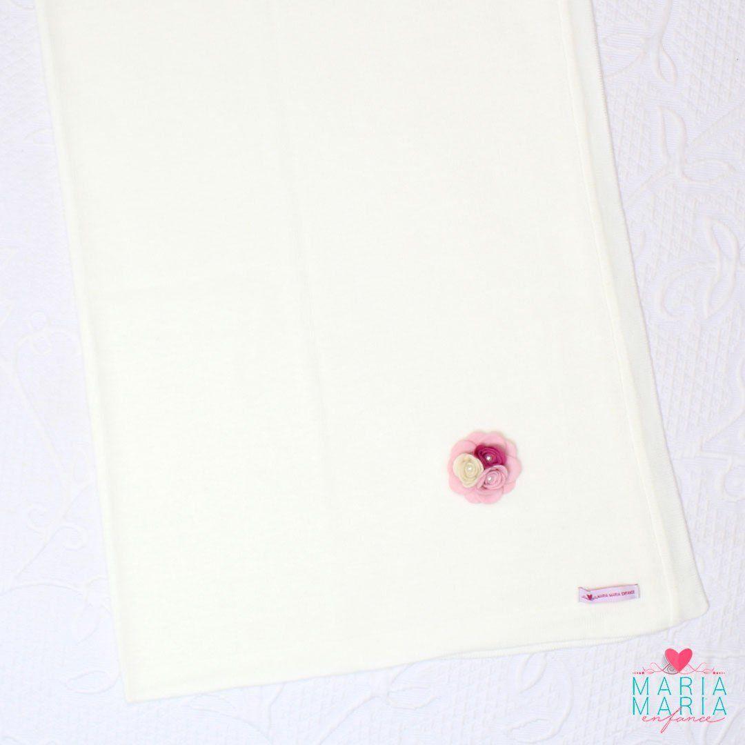 Saída de Maternidade Broche Rosa e Off White