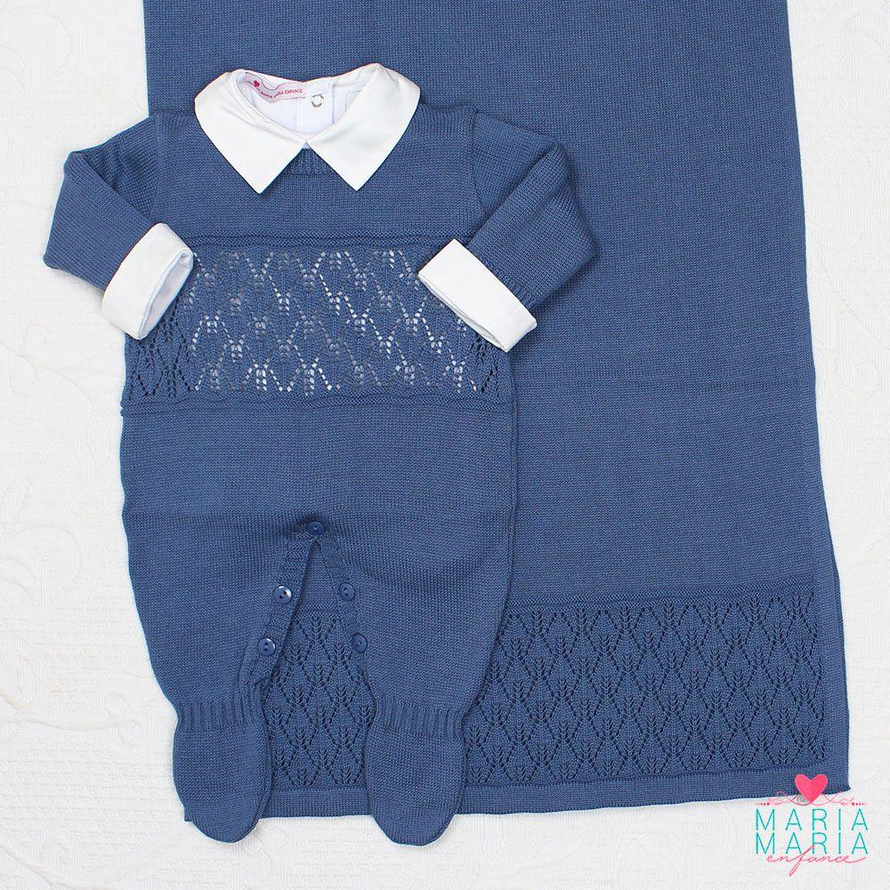 Saída de Maternidade Bruno Azul Jeans