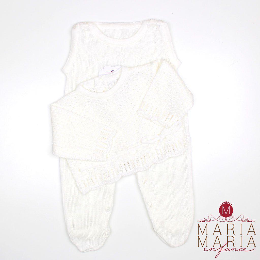 Saída de Maternidade Suéter Lacinho Off White