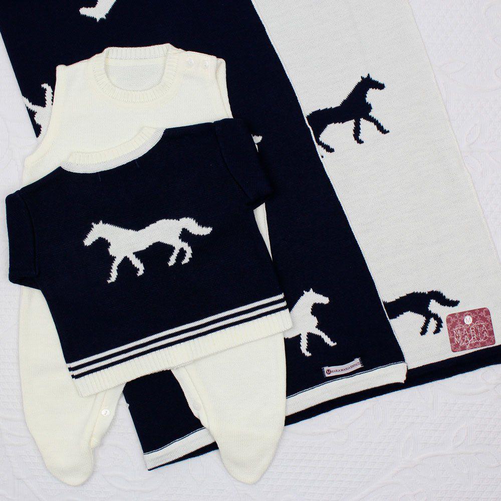Saída de Maternidade Cavalo Marinho e Off White