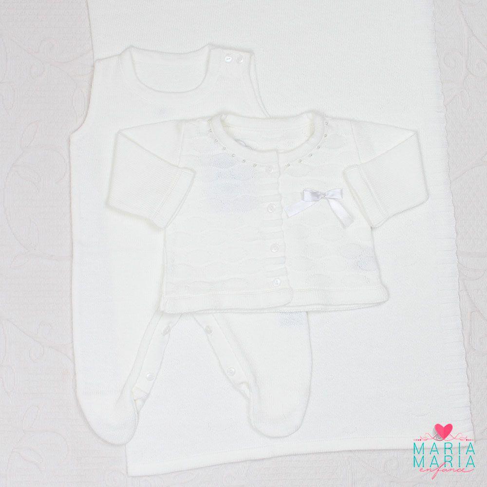Saída de Maternidade Links Pérola Branco