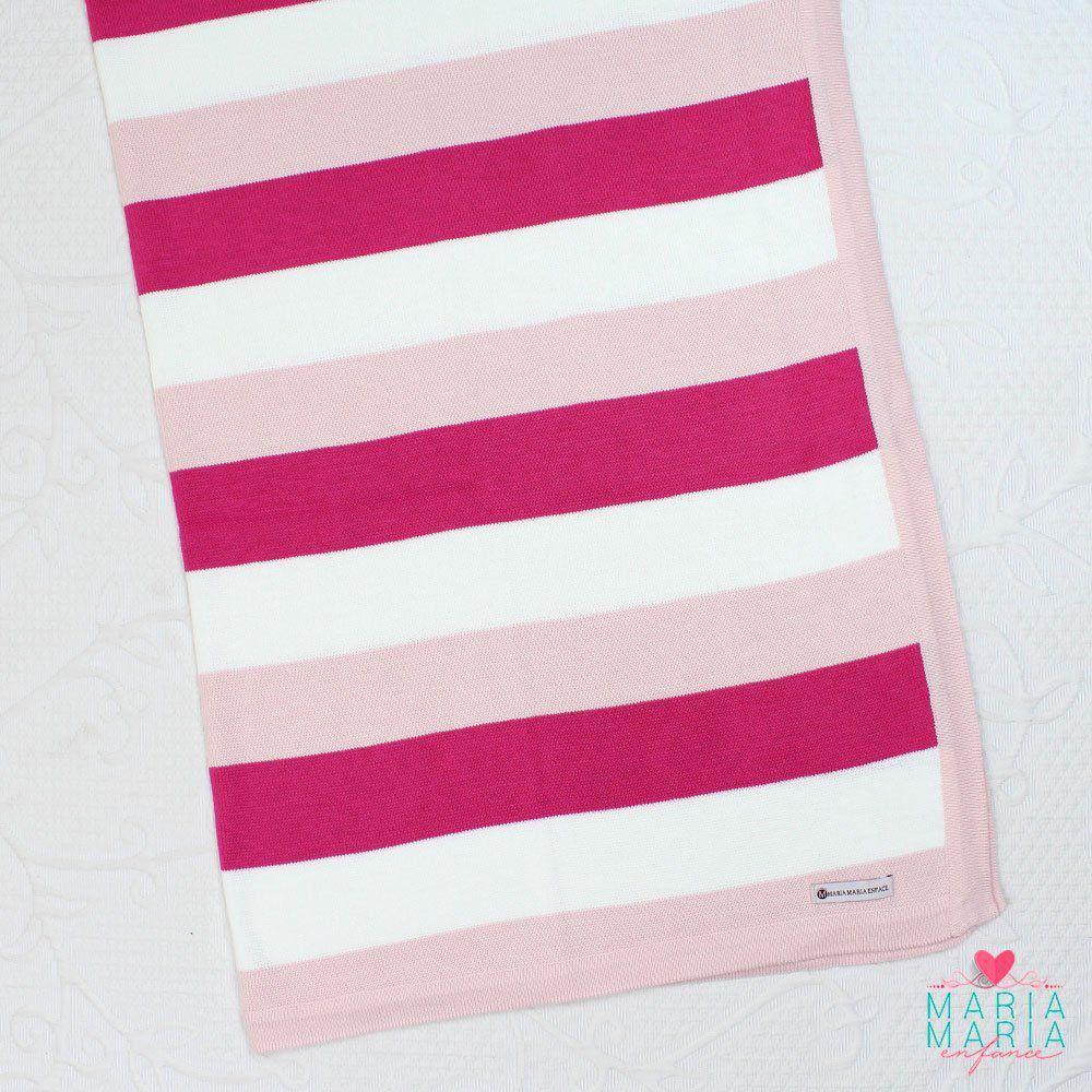 Saída de Maternidade Listrada Rosa e Pink