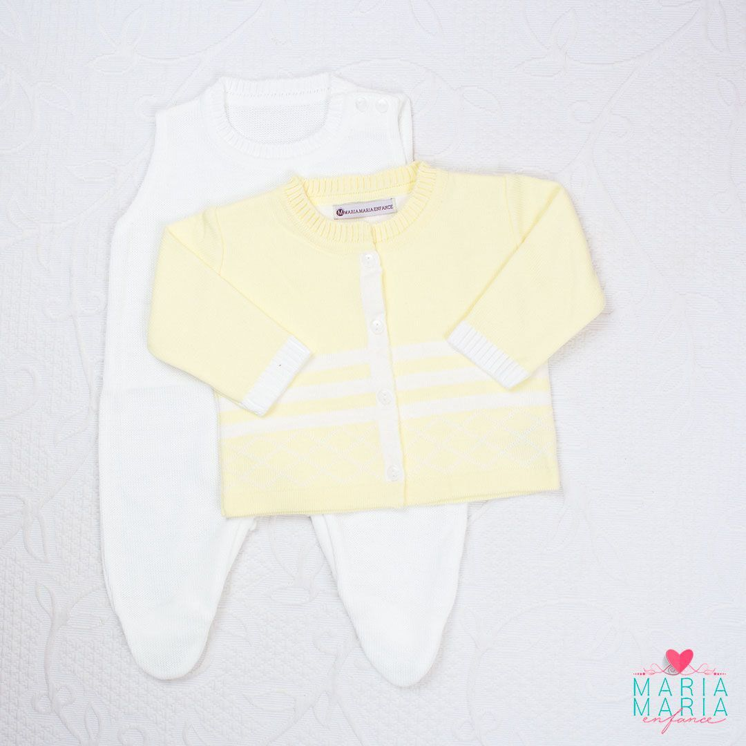 Saída de Maternidade Losango Amarelo