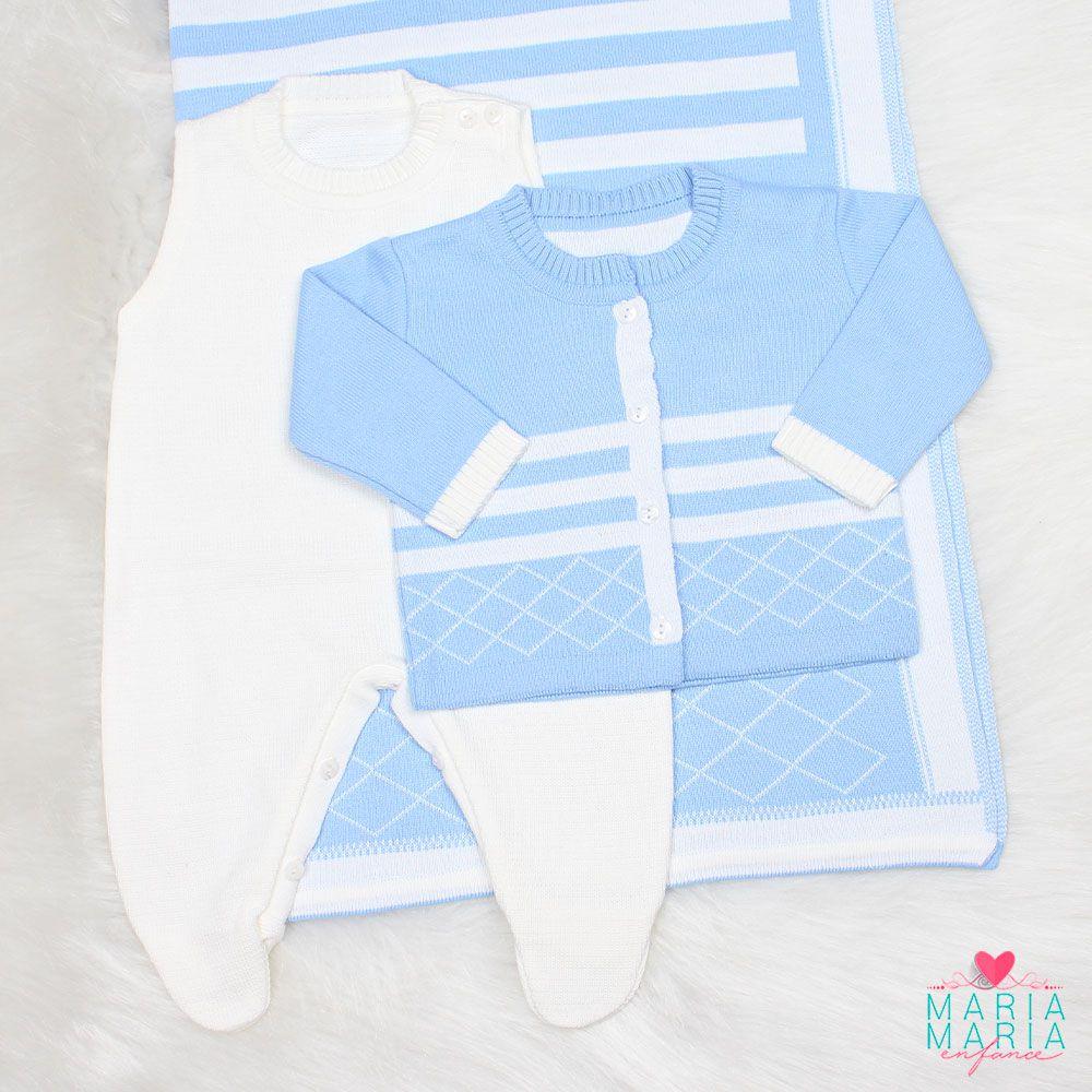 Saída de Maternidade Losango Azul