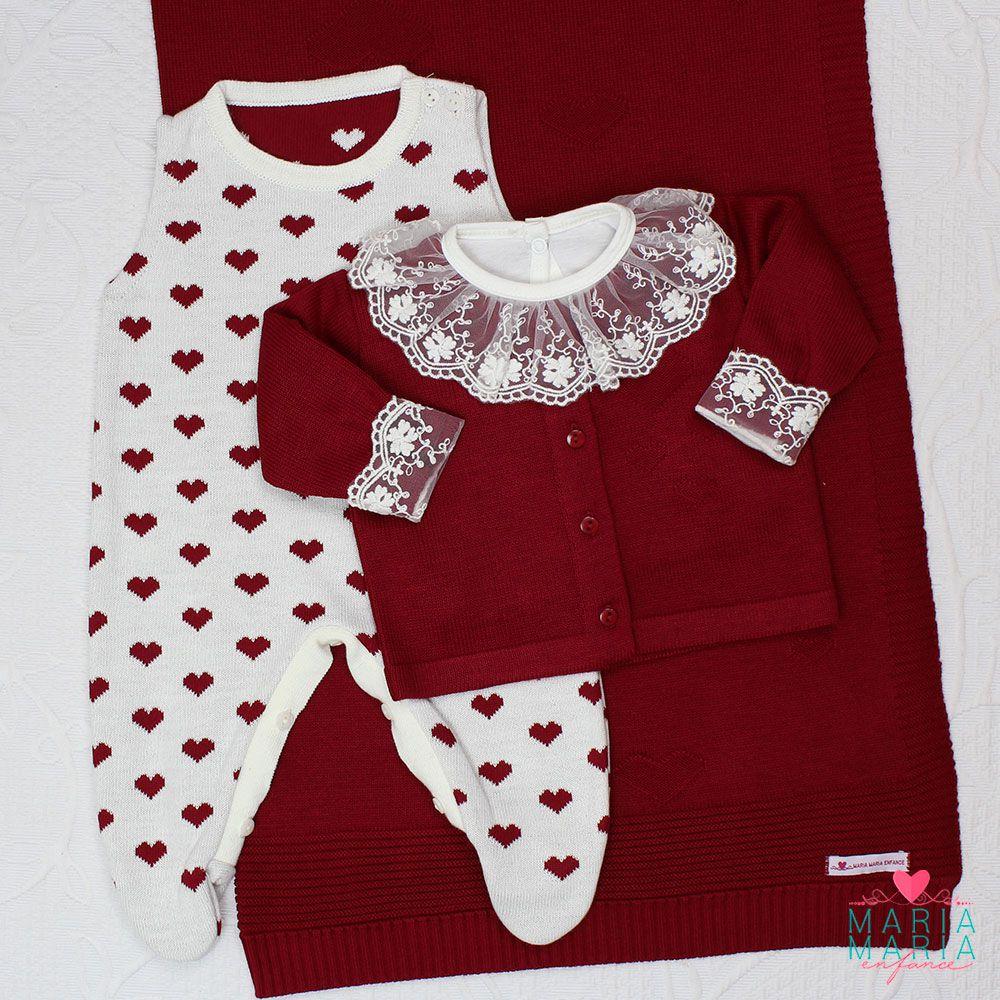 Saída de Maternidade Love Bordô