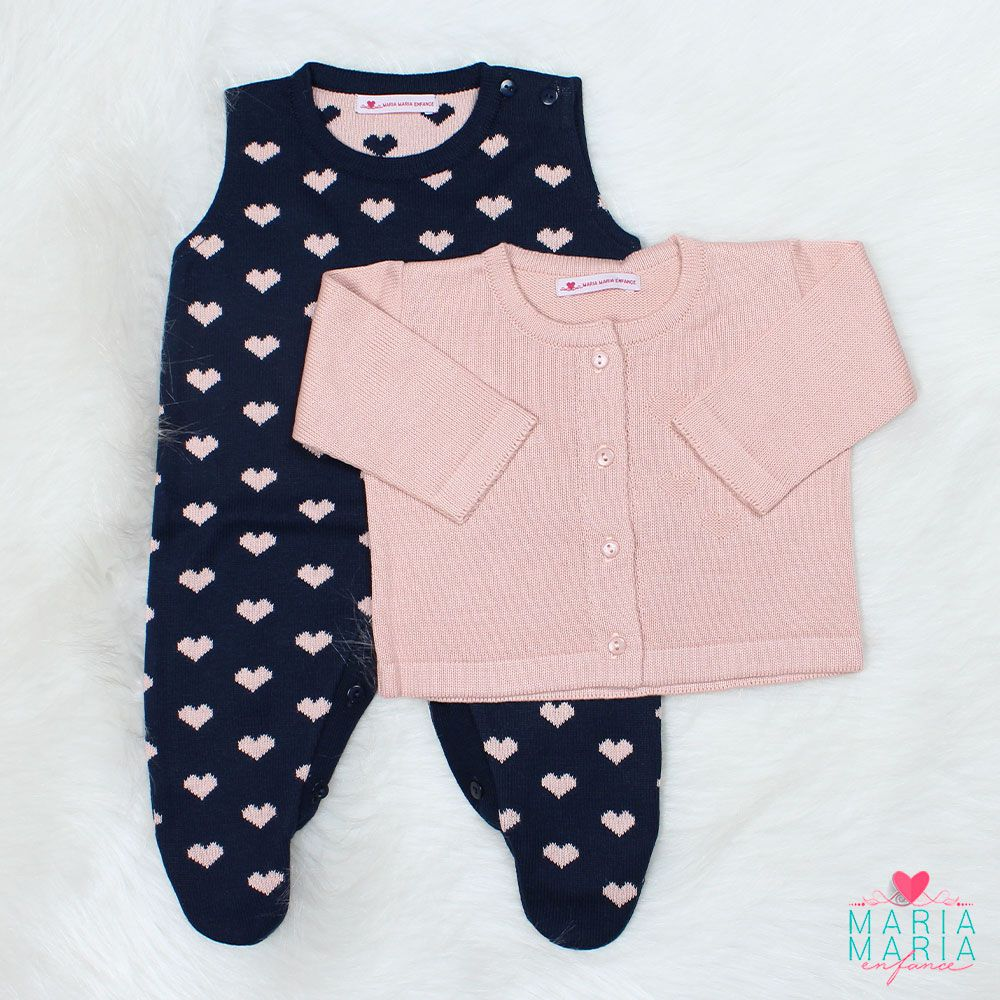 Saída de Maternidade Love Rosê e Marinho