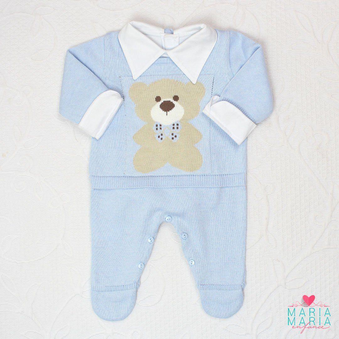 Saída de Maternidade Macacão Ursinho Azul
