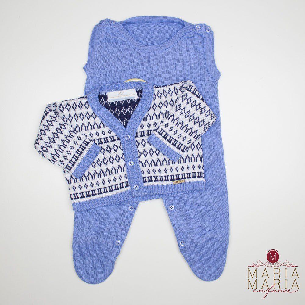 Saída de Maternidade Mid Azul