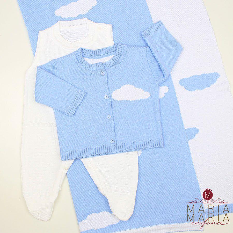 Saída de Maternidade Nuvem Azul