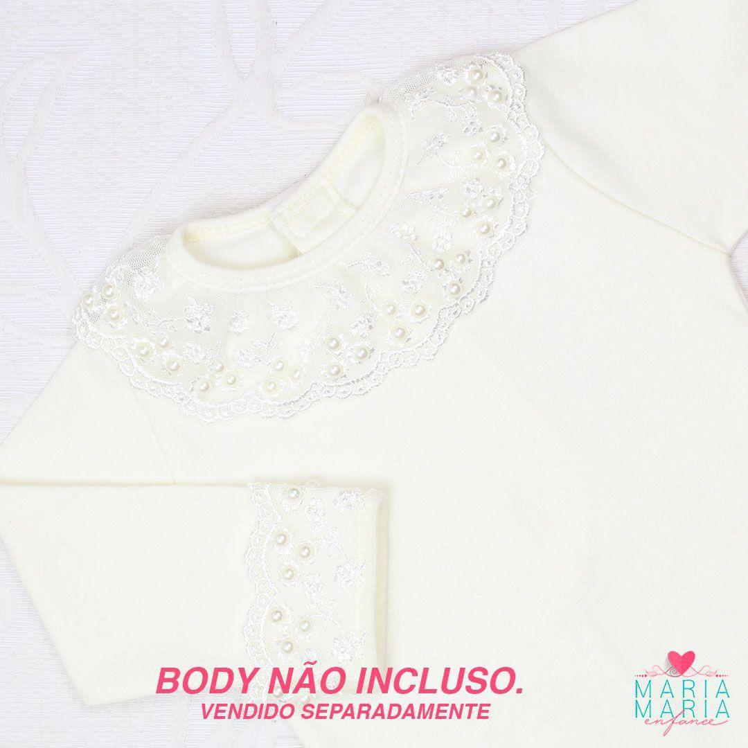 Saída de Maternidade Poá Rosa e Off White
