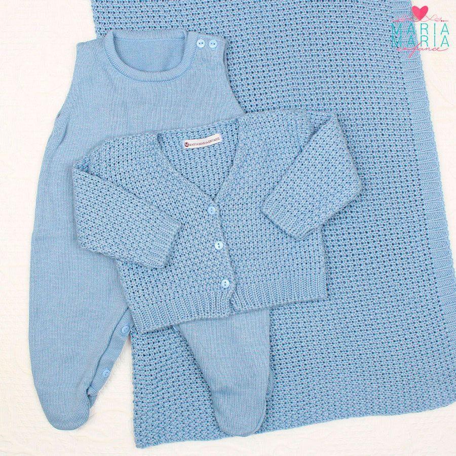 Saída de Maternidade Ponto a Ponto Azul